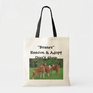 Rescue & Adopt Boxers Tote Bag