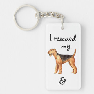 Rescue Airedale Keychain