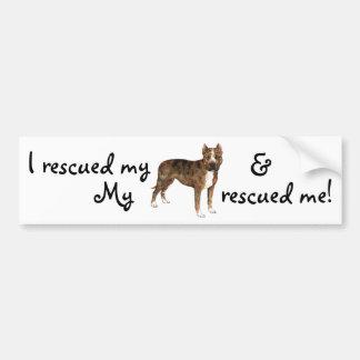 Rescue Am Staff Bumper Sticker