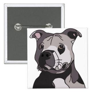 Rescue American Bulldog Pit Bull Terrier Portrait Button