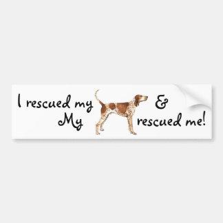 Rescue American English Coonhound Bumper Sticker