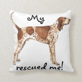 Rescue American English Coonhound Throw Pillow