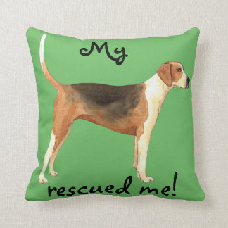 Rescue American Foxhound Throw Pillow