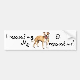 Rescue American Pit Bull Terrier Bumper Sticker