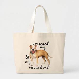 Rescue American Pit Bull Terrier Large Tote Bag