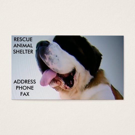 RESCUE ANIMAL SHELTER BUSINESS CARD