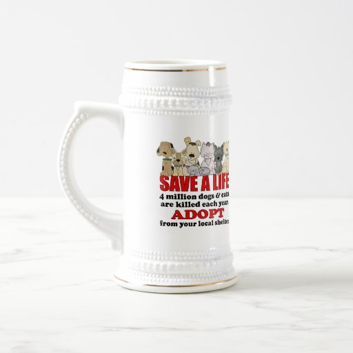 Rescue Animals Beer Stein