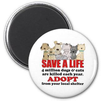 Rescue Animals Fridge Magnet