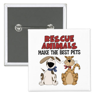 Rescue Animals Gifts Button