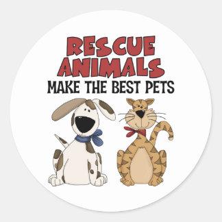 Rescue Animals Gifts Classic Round Sticker