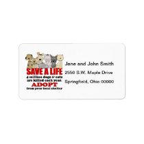 Rescue Animals Label