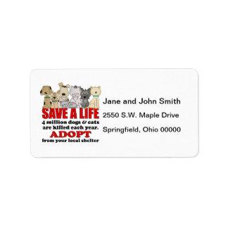 Rescue Animals Custom Address Labels