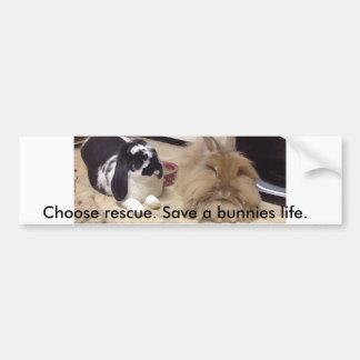 Rescue awareness bumper sticker