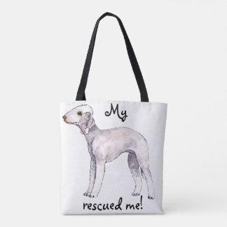 Rescue Bedlington Terrier Tote Bag