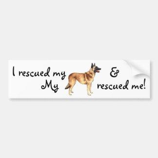 Rescue Belgian Malinois Bumper Sticker