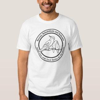 rescue birds message t shirt