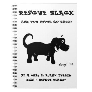 Rescue Black Dogs Notebook