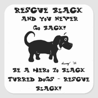 Rescue Black Dogs Stickers - Set of 20