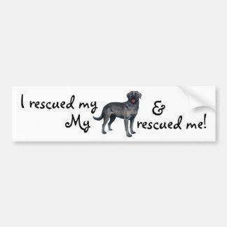 Rescue Black Lab Bumper Sticker