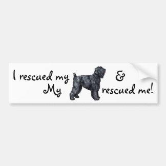 Rescue Black Russian Terrier Bumper Sticker