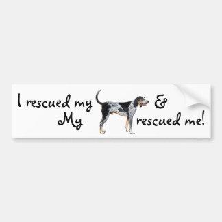 Rescue Bluetick Coonhound Bumper Sticker