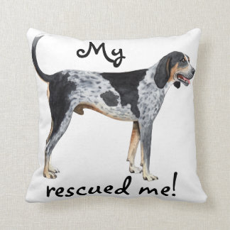 Rescue Bluetick Coonhound Throw Pillow