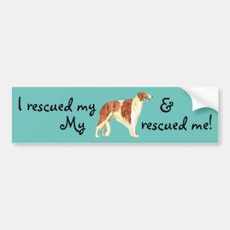 Rescue Borzoi Bumper Sticker