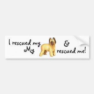 Rescue Briard Bumper Sticker