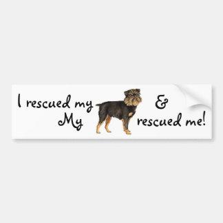 Rescue Brussels Griffon Bumper Sticker