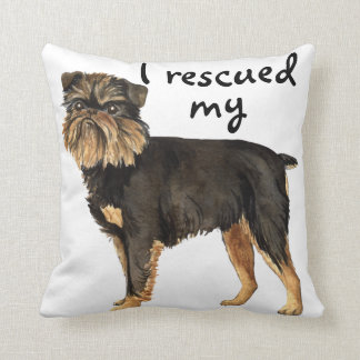 Rescue Brussels Griffon Throw Pillows