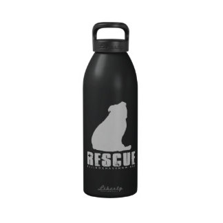 RESCUE BULLDOG (by Bulldog Haven NW) Water Bottle