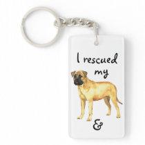 Rescue Bullmastiff Keychain