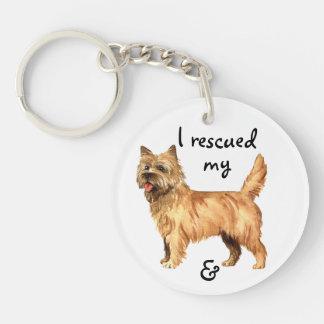 Rescue Cairn Terrier Keychain
