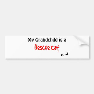 Rescue Cat Grandchild Bumper Sticker