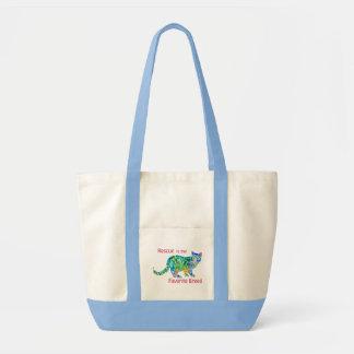 Rescue Cat Tote Bag Colorful