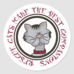 Rescue Cats Make The Best Companions Stickers