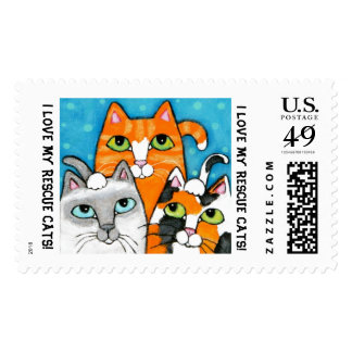 Rescue Cats Postage Stamp