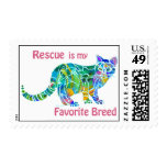 Rescue Cats Postage Stamps