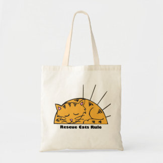 Rescue Cats Rule Tote Bag