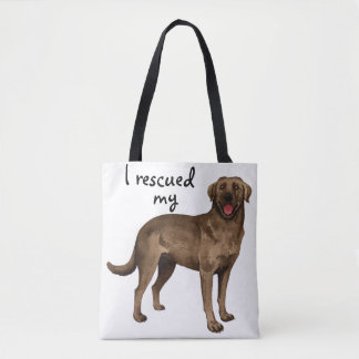 Rescue Chocolate Lab Tote Bag