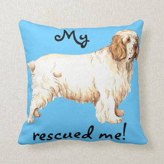 Rescue Clumber Spaniel Throw Pillow
