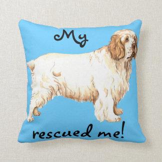 Rescue Clumber Spaniel Throw Pillow
