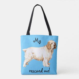 Rescue Clumber Spaniel Tote Bag
