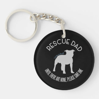 "Rescue Dad ""Love A Bull"" Pit Bull Rescue Keychain"