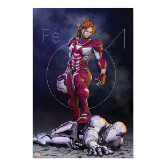 Rescue Defeating Superior Iron Man Poster