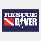Rescue Diver 2 Rectangular Sticker