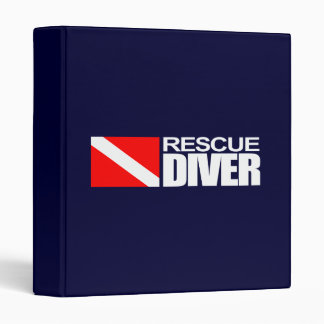 Rescue Diver 4 3 Ring Binders