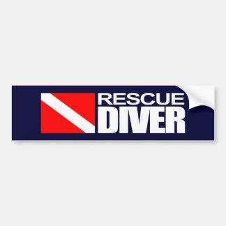 Rescue Diver 4 Bumpersticker Bumper Sticker