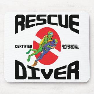 Rescue Diver Mouse Pad