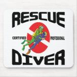 Rescue Diver Mouse Pads